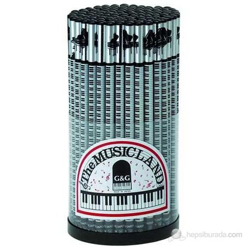 G&G 2-PK Piyano ve Tuşeli Parlak Kurşun Kalem