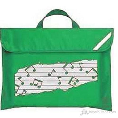Musikboutique 11310-N-grun Notalı Yeşil Çanta