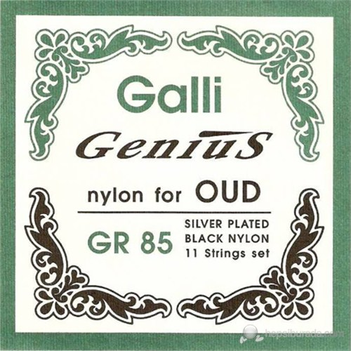 Galli Gr85 Ud Teli Takım (Naylon Teller Siyah)