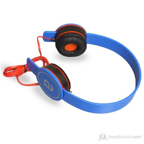 Avec AV-K3537 Katlanabilir Mavi Kulaküstü Kulaklık