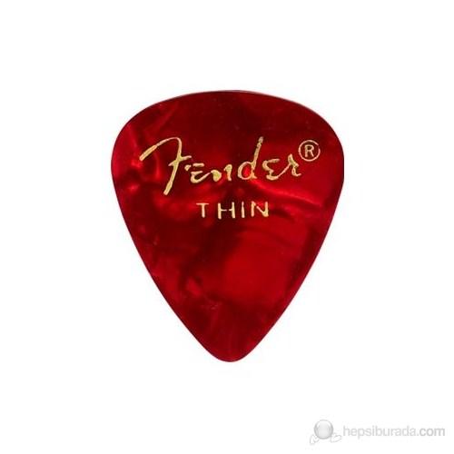 Fender 351 Shape Premium Picks, Thin, 12 Pack, Red