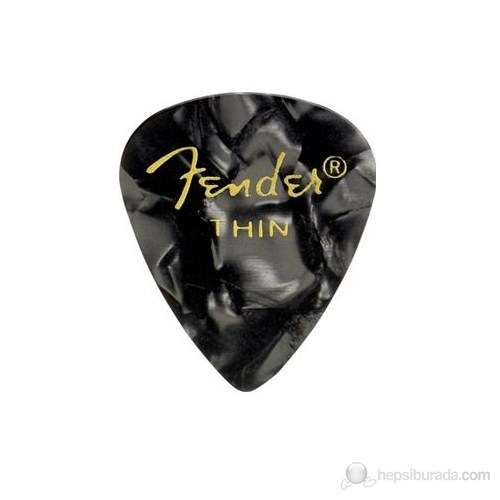 Fender 351 Shape Premium Picks, Thin, 12 Pack, Black
