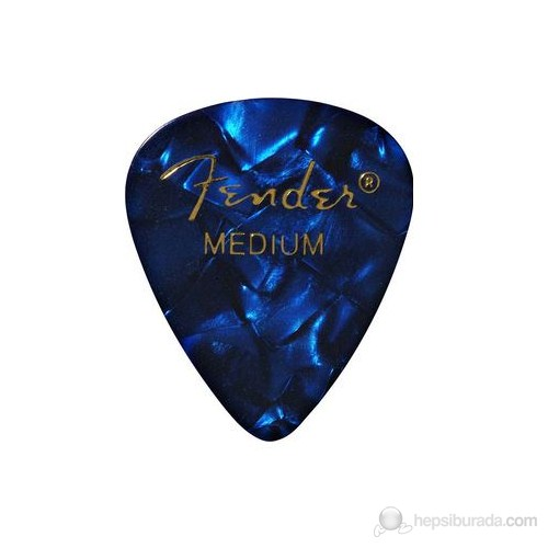 Fender 351 Shape Premium Picks, Medium, 12 Pack, Blue