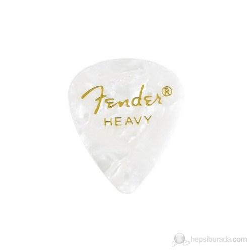 Fender 351 Shape Premium Picks, Heavy, 12 Pack, White