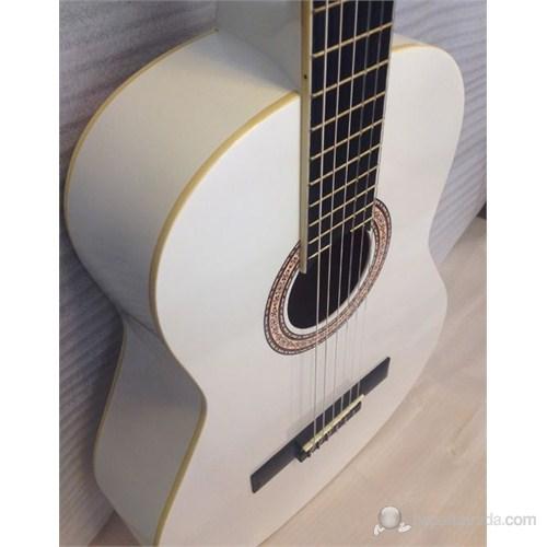 Barcelona Lc3900 Beyaz Klasik Gitar - Kılıf Hediyeli