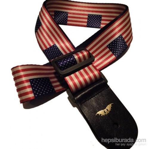 Airman American Flag Gitar Askısı
