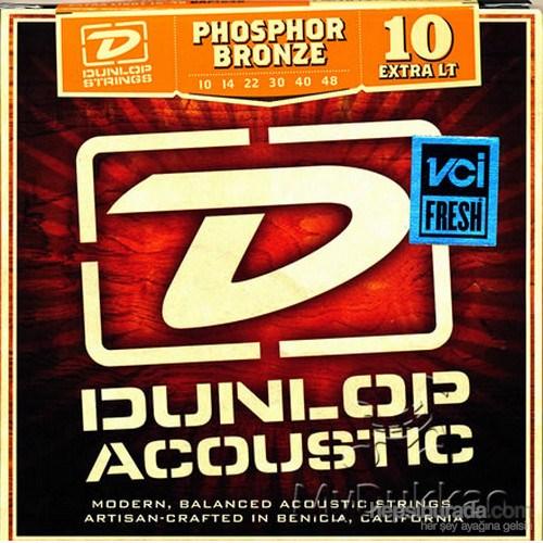 Jim Dunlop Dap1048 Phosphor Bronze Extra Light Akustik Gitar Teli