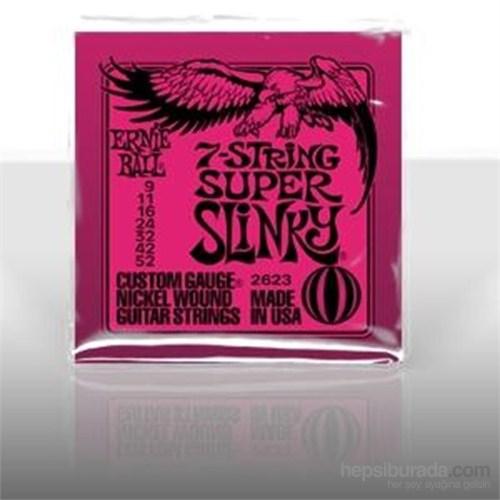 Ernie Ball Po2623 Regular Slinky Nickel Wound 009-052 7 Telli Elektro Gitar Tel Seti