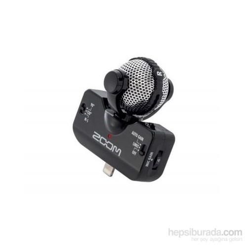 Zoom IQ5/B H4N,H6 ve İphone İçin Uyarlanmış Stereo Mikrofon SİYAH