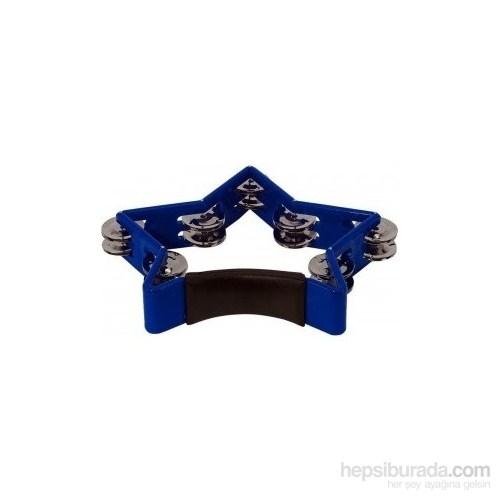 Basix Star Shape Tambourine Blue