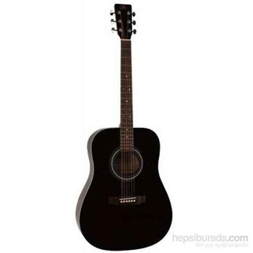 Sx Sd1 Bk Dreadnought Akustik Gitar