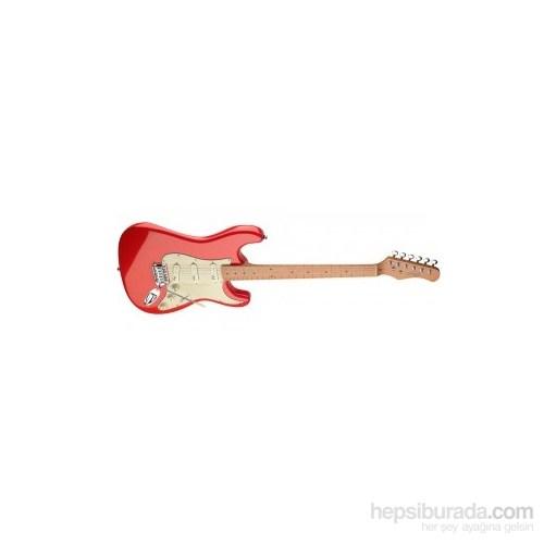 Stagg SES50M-FRD Elektro Gitar