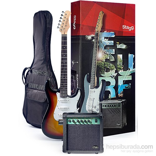 Stagg Esurf 250 Sb Elektro Gitar Seti