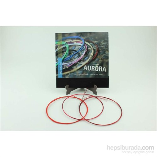 Aurora Kırmızı Elektro Saz Teli 0,20