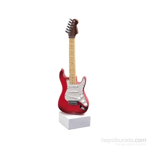 Standlı Kırmızı Elektro Gitar Heykel