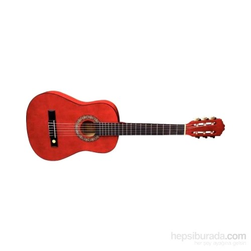 Almerıa Kırmızı Klasik Gitar 4/4