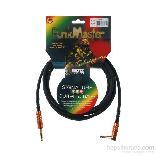 Klotz Funk Master Signature 3m. L Tipi Enstrüman Kablosu TM-R0300