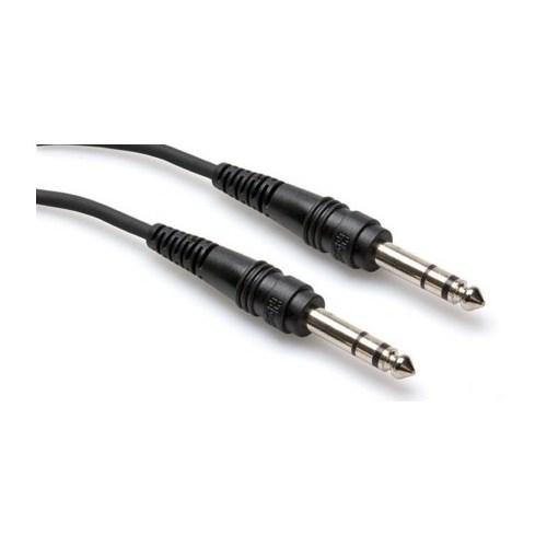 HOSA 1/4'' TRS (M) - 1/4'' TRS (M) Balanslı kablo 4.5 mt.
