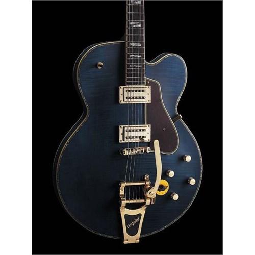 Peerless Deep Blue Custom Semi-Solid Elektro Gitar