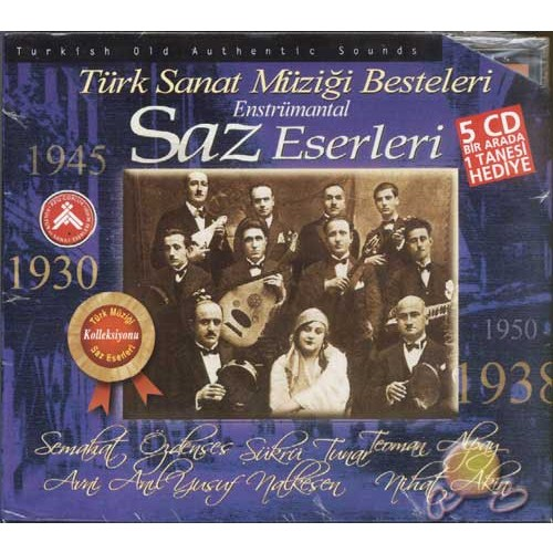 Saz Eserleri (ENSTRÜMANTAL)(5 Cd) (cd)