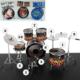 Kayıkcı Dekoratif Mini Bateri Seti 10 Parça Minyatür Set