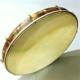 Gold Sedef İşlemeli Gergili Deri Bendir,Erbane 46Cm