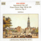 Johannes Brahms - Piano Pieces Op.117,118 CD