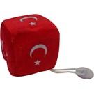 Transformacion Peluş Zar Türk Bayrağı Vantuzlu 24a100