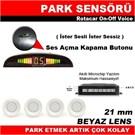 Rotacar On-Off Voice Beyaz Park Sensoru (Ister Sesli-Ister Sessiz Ozellikli)