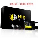 Oscar Vision Dijital H4 Kısa Xenon/Uzun Xenon 8000 K Xenon H.I.D Xenon Kit 01g042