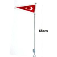 Bayrak Direği Püsküllü Metal Gövde Boy:68cm