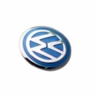 VW Golf İçin 2 Adet Araç Anahtar Logo Amblemi Ürün Mavi Renkten Oluşmaktadır Çapı: 1.4 cm