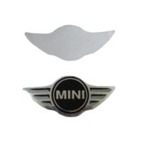 Mini Cooper İçin 2 Adet Araç Anahtar Logo Amblemi Ürünün Çapı: 21X10 mm