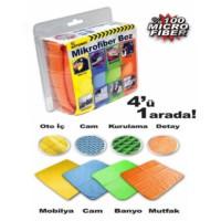 Automix Mikrofiber Bez 4'Lü Set