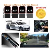 Cam Filmi Kutu Bir Arabalık 50Cmx6M Çizilmez Super Dark Black