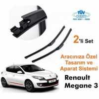 Renault Megane 3 Araca Özel Silecek Takımları (Sağ-Sol)
