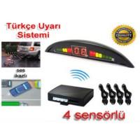 Park Sensörü 4 Sensörlü Türkçe Konuşan Ekranlı