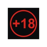 +18 Çıkartması Kırmızı Çap:11Cm