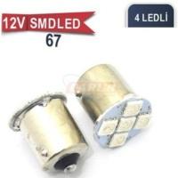 67 Ampul Led Beyaz 12V Smd 4 Power Led 0403012