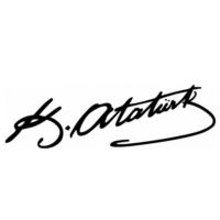 Mustafa Kemal Atatürk İmzası Beyaz 25Cmx5Cm