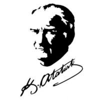Mustafa Kemal Atatürk Siyah Resim Ve İmzası