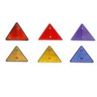 Reflektör Küçük Üçgen Sarı Kenar Uzunluk: 7Cm