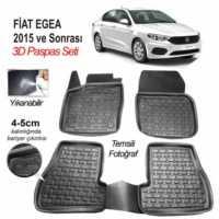 Image 3D Kauçuk Paspas Fiat Egea Uyumlu Siyah