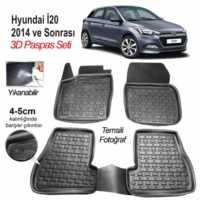 Image 3D Kauçuk Paspas Hyundai İ20 2014 Ve Sonrası Uyumlu Siyah