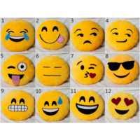 Süslenoto Emoji Boyun Yastığı Sarı No:11 Çap:25Cm 250Gr