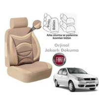 Süslenoto Fiat Albea Sedan 2005-2011 Bej Oto Koltuk Kılıfı Ortopedik
