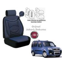Süslenoto Fiat Doblo 2001-2006 Siyah Mavi Oto Koltuk Kılıfı Ortopedik
