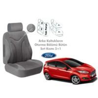 Süslenoto Ford Fiesta Hb 2013 Ve Sonrası Gri Oto Koltuk Kılıfı Ortopedik