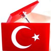 Süslenoto Panjur Arması Türkiye Dikdörtgen 9Cmx5,5Cm