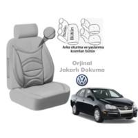 Süslenoto Volkswagen Jetta Sedan 2005-2010 Gri Oto Koltuk Kılıfı Ortopedik